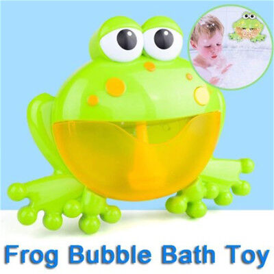 12 Songs Frog Automatic Bubble Maker Shower Machine Blower Bath Bathtub Kids Toy