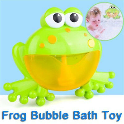 Bubble Tub Frog Automatic Shower Machine Blower Maker Bath Music Kid Baby Toy