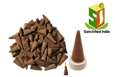 PURE ORGANIC COW DUNG DHOOP INCENSE (140 Cones) Rose Flavour 100% Natural