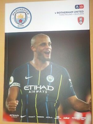 Manchester City v Rotherham United FA Cup Programme (Season 2018-2019)
