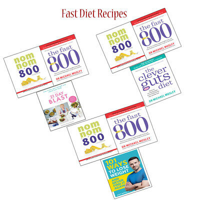 Fast Diet Collections Set Nom Nom Fast 800 Cookbook and 101 Ways to Lose Weight