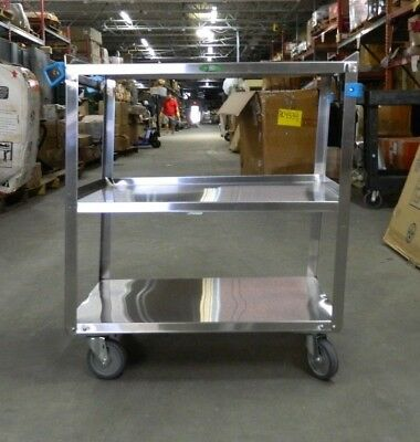 "Pro Stainless Steel Utility Cart 31"" Long 19"" Wide 32-1/8"" High 05138771 DAMAGED"