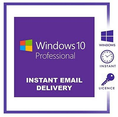 Windows 10 Pro Professional KEY 32/64 bits Licencia Multilenguje