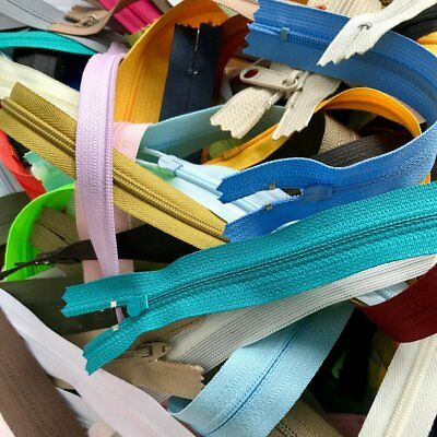 Clearance Sale Over 3 Pounds of Assorted Zippers Metal/Molded/Nylon/Coil