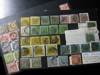BADEN GERMAN STATES incredible stamp collection on 2 stock cards! CV $1,325.00+