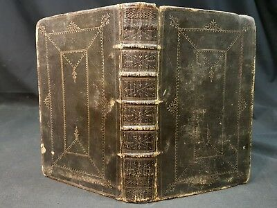 1752 The Whole Duty Man Richard Allestree BLACK MOROCCAN LEATHER GILT BINDING