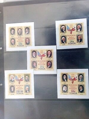 Stamps Used Mm Tonga Free Form Adhesives American Bicentennial 1976