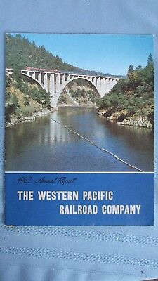 1962 Western Pacific Railroad Annual Report-Route Maps-Rolling Stock Lists