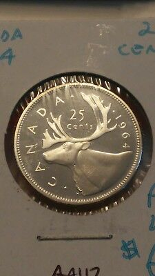 1964 Canada 25 Cents Coin Proof Like #AA112