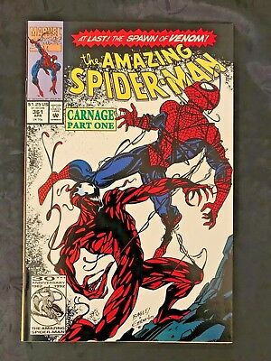 Sharp 1992 Marvel Amazing Spider-Man 4 Comic Book Lot 361 1st Carnage 362 363