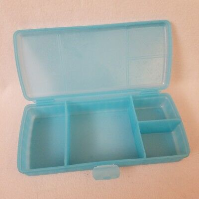 Tupperware Turquoise Aqua Blue Lunch N Things Divided Container Snack Keeper