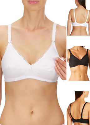 d2ee587fbf Naturana Drop Cup Soft Cup Nursing Bra 5089 100% Cotton Breast Feeding  Maternity