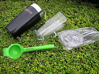 Hornitos Tequila Cocktail Shaker & Glass Strainer And Citrus Squeezer Set