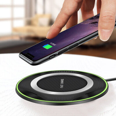 10W Qi Induction Wireless Fast Charger Charging Mat Dock Pad For iPhone 8 XS Max