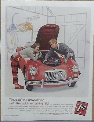 1960 MGA Print Ad in color (red) 7-Up