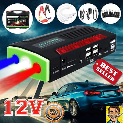 Portable Heavy Duty Truck Car Booster Power Charger Jump Starter Battery Pack