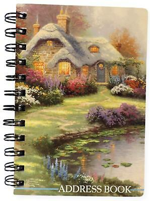 Hallmark Thomas Kinkade Address Book Small Spiral Bound Everett's Cottage