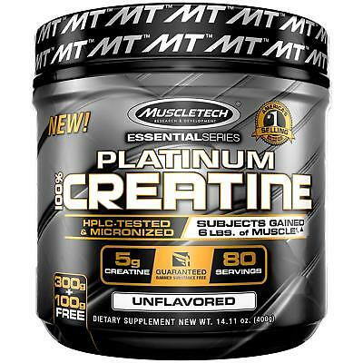 MuscleTech Platinum Creatine Monohydrate Powder,Pure Micronized Creatine  100%