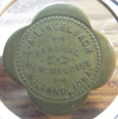 Very Old E.A. Lingelbach General Merchandise Holland, IA 25c Trade Token - Iowa