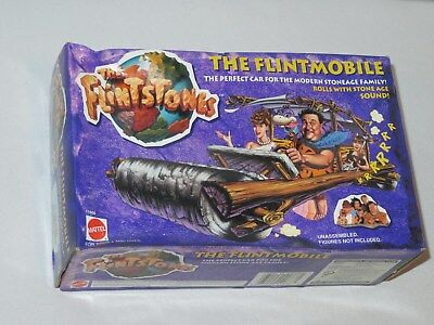 Vintage The Flintstones Flintmobile Action Figure by Mattel 1993 MIB