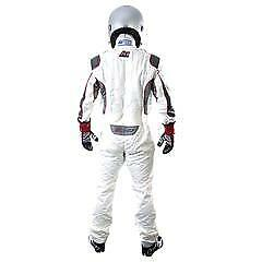 First Gen SFI & FIA approved Champ suit White size small