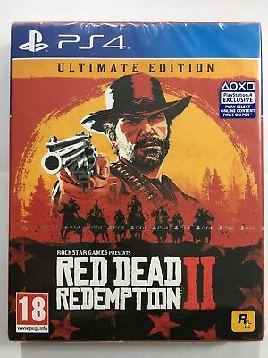 RED DEAD REDEMPTION II 2 ULTIMATE EDITION - GIOCO Playstation 4 PS4 NUOVO SIGILL