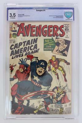 Avengers #4 - CBCS 3.5 - 1st App of Silver Age Captain America & Bucky! CGC