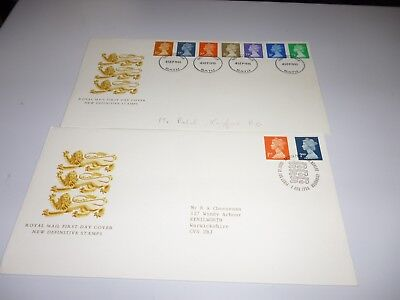 Gb 1990 Definitive First Day Covers X 2 Lot 17A