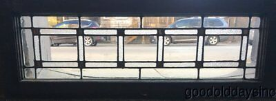 """Antique Leaded Glass Transom Window 34"""" by 12"""" Circa 1920"""