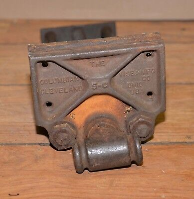 "Antique woodworking bench vise Columbian 5-C opens 10"" collectible vintage tool"