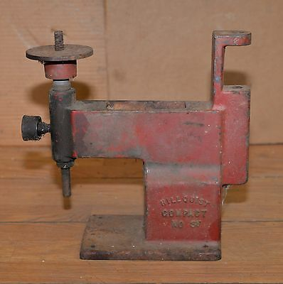 Hillquist cast iron compact No 3V lapidary bench tool stone gem drill vintage