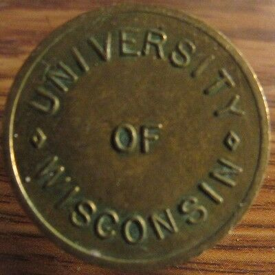 Vintage University of Wisconsin Madison, WI Parking Token - Wisc.