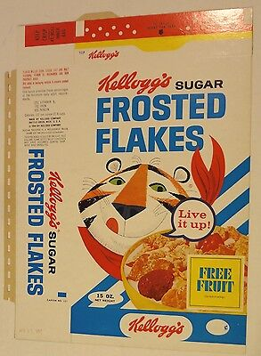 1967 Frosted Flakes Tony Tiger Cereal Box NM FLAT Apple Jacks Bowl Mug offer