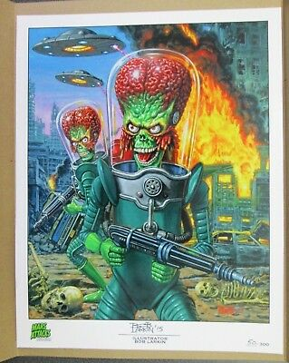"Mars Attacks Occupation  11"" X 14""lithograph Illustration Pr. Bob Larkin 50/300"