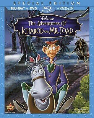THE ADVENTURES OF ICHABOD AND MR TOAD New Blu-ray + DVD Special Edition Disney