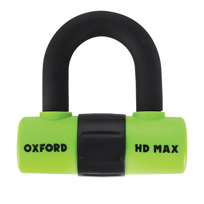 Oxford HD Max High Security Motorcycle Disk Lock Padlock 14mm Shackle - Yellow