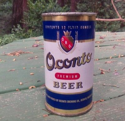 Oconto flat top beer can
