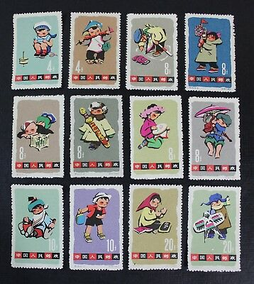CKStamps: China PRC Stamps Collection Scott#684-695 Unused NH NGAI Couple Stain
