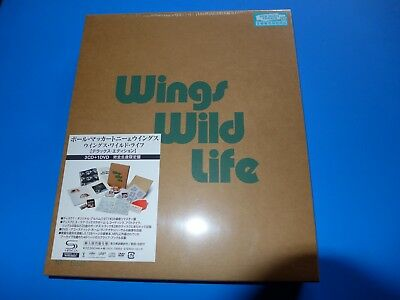 JAPAN FREE SHIP DELUXE w/SERIAL NUMBER PAUL McCARTNEY WINGS WILD LIFE SHM CD