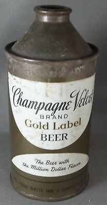 Champagne Velvet Brand Gold Label Beer cone top - VERY TOUGH