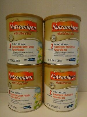 Nutramigen With Enflora LGG 12.6oz  Lot Of 4 Brand New Exp date is Nov 1,2019