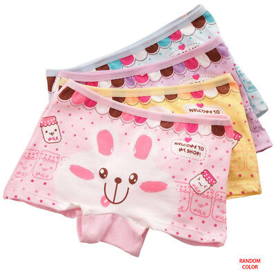 6pcs Packed Cartoon Boxers Children Girl Briefs Panties Underpants Underwear AU