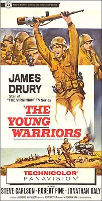 THE YOUNG WARRIORS original 1966 large WW2 3-sheet movie poster JAMES DRURY