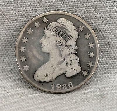 1836 Capped Bust Lettered Edge Half Dollar! No Reserve!