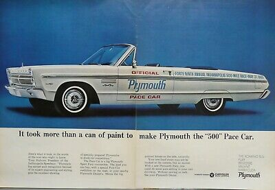1965 Plymouth Fury Pace Car Print Ad