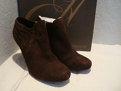6b7456fb131d New Enzo Angiolini Womens Haver Brown Leather Ankle Boots Shoes 10 Medium