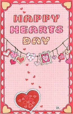 Mary Engelbreit-HAPPY HEARTS DAY Valentine Greeting Card/Envelope-NEW!
