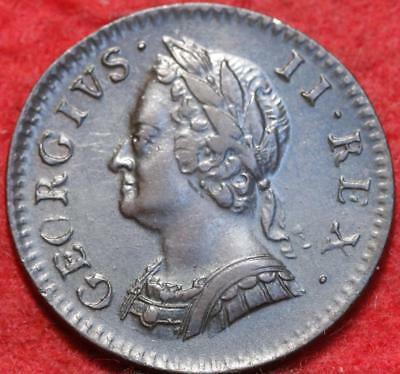 1754 Great Britain Farthing Foreign Coin
