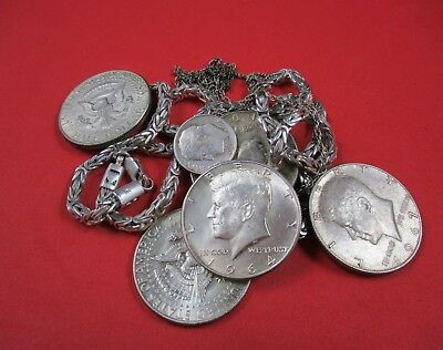 3.7 Ounce Lot Sterling Silver .925 Jewelry & Old US Kennedy Half Dollar Coins