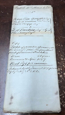 Rare 1860 50 Year Land Lease Indenture to Thomas Brookings Newfoundland